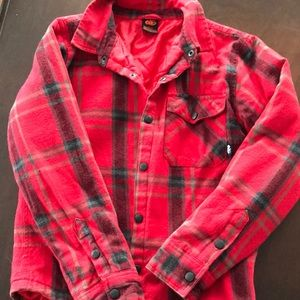 Red flannel insulated jacket